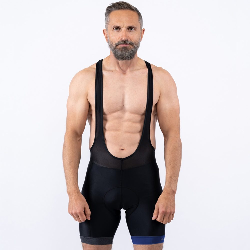 Blue Bib Shorts
