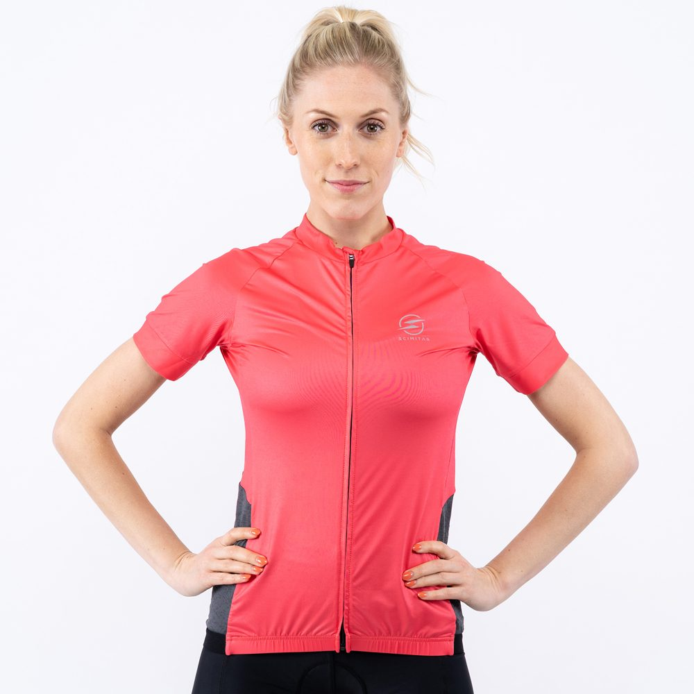 Womens Coral Cycle Jersey